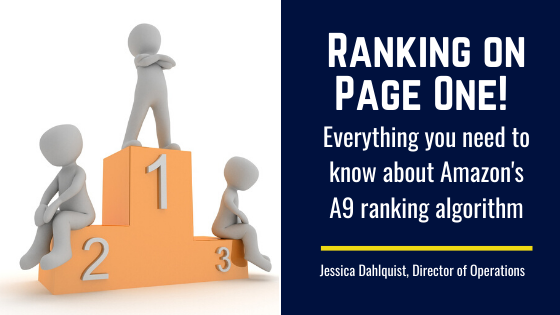 Ranking on Page One! Everything you need to know about Amazon's A9 ranking algorithm