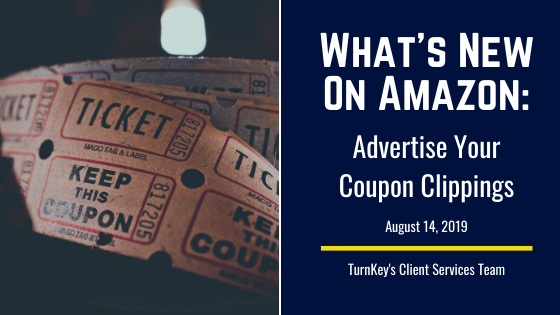 What's New on Amazon: Advertise Your Coupon Clippings