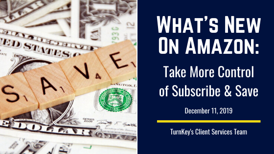 What's New on Amazon: Take More Control of Subscribe & Save