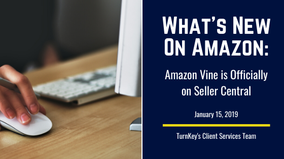 What's New on Amazon: Amazon Vine is Officially on Seller Central