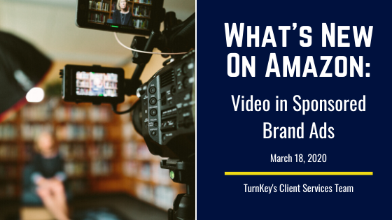 What's New on Amazon: Video in Sponsored Brand Ads